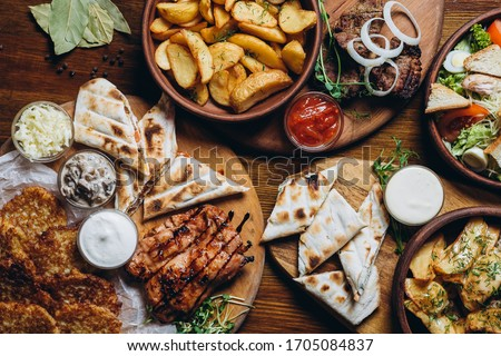 Food in an Italian Restaurant waiting for the guests to be eaten Stock photo © Kzenon