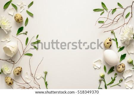 Ovo de páscoa Páscoa cartão simples branco ovo Foto stock © LittleCuckoo