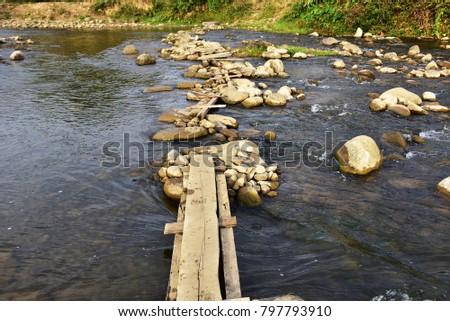Land lopen pad vallei landschap vermogen Stockfoto © fenton