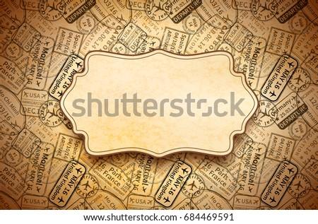 Negro internacional viaje visado goma sellos Foto stock © evgeny89