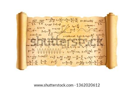 Starych szeroki papirus przejdź skomplikowany Zdjęcia stock © evgeny89