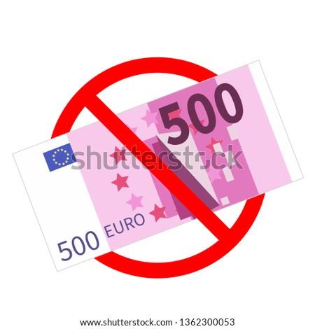 Vijf honderd euro bankbiljetten niet toegestaan Stockfoto © evgeny89