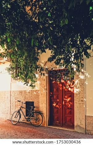 Arquitetônico detalhes antigo ruas ilha Grécia Foto stock © Anneleven