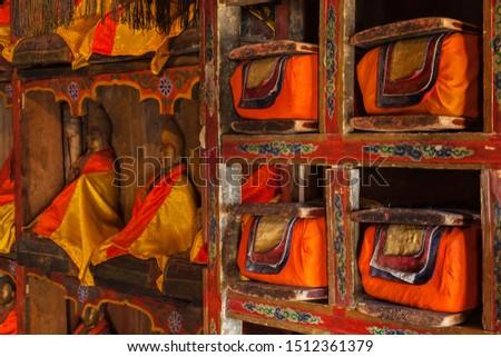 Velho biblioteca mosteiro Índia budista Foto stock © dmitry_rukhlenko