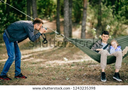 artistic lifestyle photo of happy family adult man and his son stock photo © hasloo