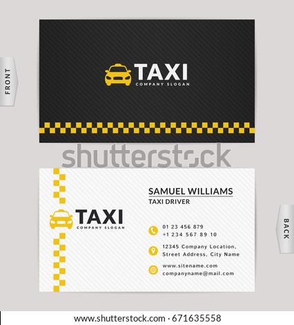 Visitenkarte Taxi Vektor Vorlage Auto Drucken