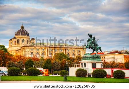 monument archduke charles erzherzog karl on heldenplatz in vie stock photo © vladacanon