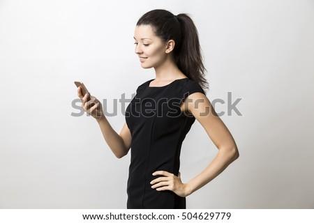 közelkép · oldalnézet · fiatal · üzletasszony · fehér · öltöny - stock fotó © wavebreak_media