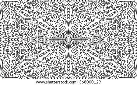 Vintage branco preto caleidoscópio círculo Foto stock © marinini