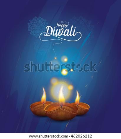 beautiful template brochure festival happy diwali colorful refle stock photo © bharat