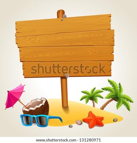 Tengeri csillag fából készült tengerpart felirat tenger nyár Stock fotó © susabell