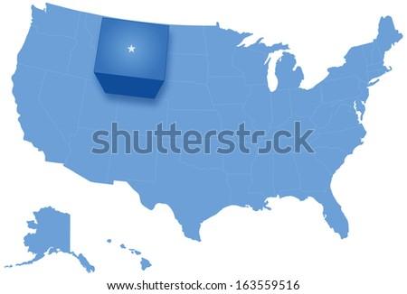 Kaart Verenigde Staten Wyoming uit politiek alle Stockfoto © Istanbul2009