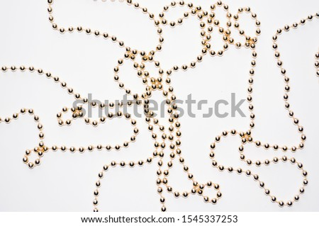 background made of a brilliant celebratory beads of golden color stock photo © oly5
