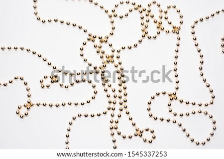 Zseniális gyöngyök arany szín fa szeretet Stock fotó © oly5