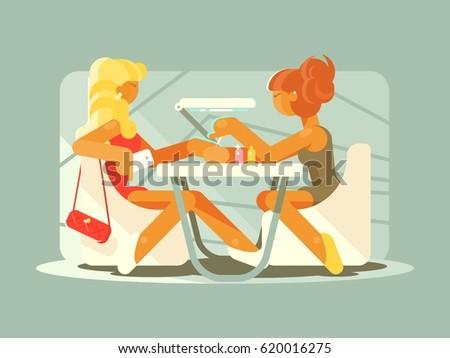 girl doing manicure in beauty salon  Stock photo © JackyBrown