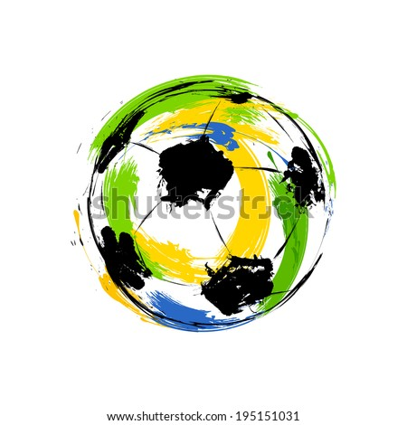 Vector Soccer ball with brasil colors concept celebration backgr Stock photo © bharat