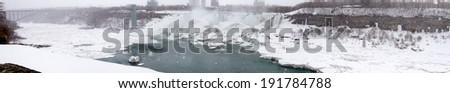 арки моста реке подкова Ниагарский водопад Онтарио Сток-фото © bmonteny