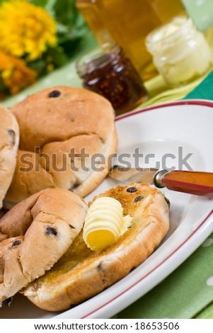 tost · çay · kekler · reçel · gıda - stok fotoğraf © raphotos