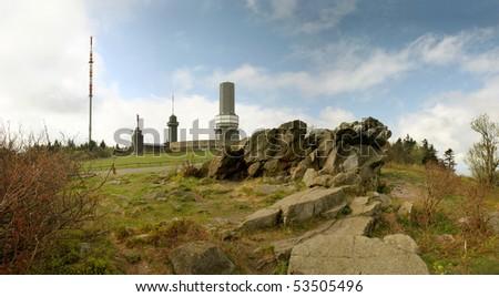 Mount Grosser Feldberg, highest peak of the german Taunus mounta Stock photo © meinzahn