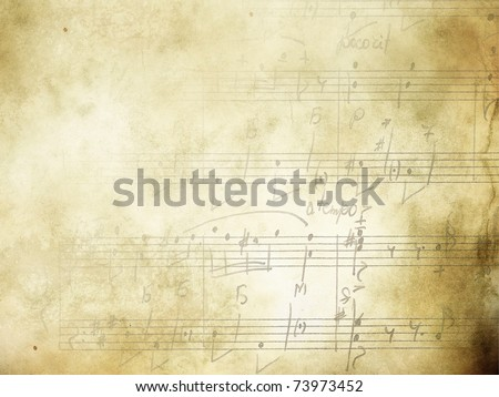 abstract grunge music background with piano Stock photo © lem