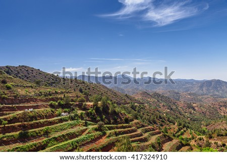 Panoramic view of Kato Lefkara village. Limassol District, Cypru Stock photo © Kirill_M