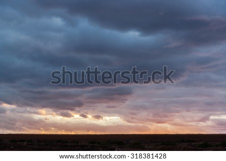 Beautiful canarian sunset, dramatic sky. Tenerife, Canary Islands Stock photo © amok