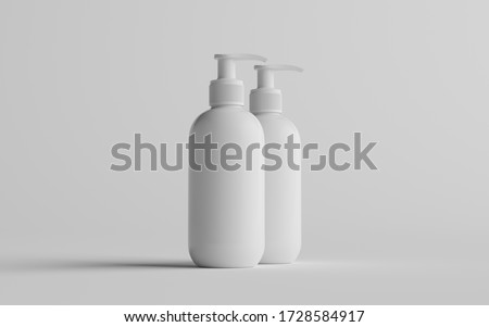 Plastic Clean White Bottle With Dispenser Pump. Shower Gel, Liquid Soap, Lotion, Cream, Shampoo, Bat Stock photo © netkov1