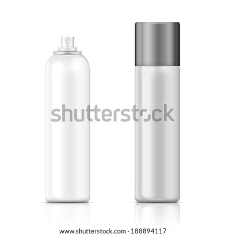 White metal bottle with sprayer cap for cosmetic, perfume, deodorant or freshener Stock photo © netkov1