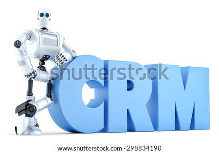 Robot crm teken business technologie geïsoleerd Stockfoto © Kirill_M
