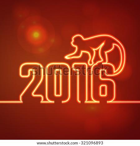2016 Новый год неоновых свет дизайна Сток-фото © rommeo79