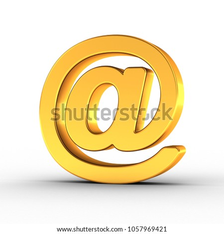 The Email symbol as a polished golden object with clipping path Stock photo © creisinger