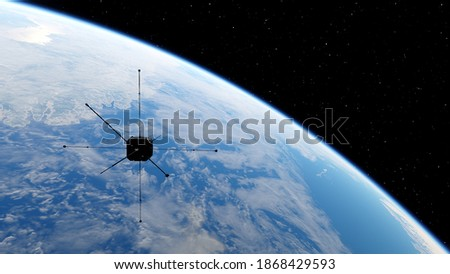 Satellites in the outerspace Stock photo © bluering