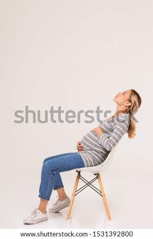 Can ask? Blonde pregnant woman consider