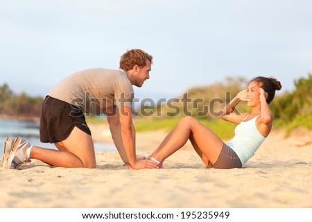 Boldog fitnessz nő ül lábak keresztbe tart gyönyörű Stock fotó © deandrobot