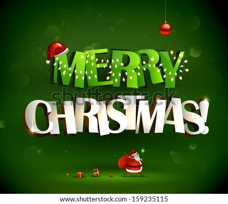 alegre · natal · ícone · abstrato · citar · cartão · postal - foto stock © chatchai5172