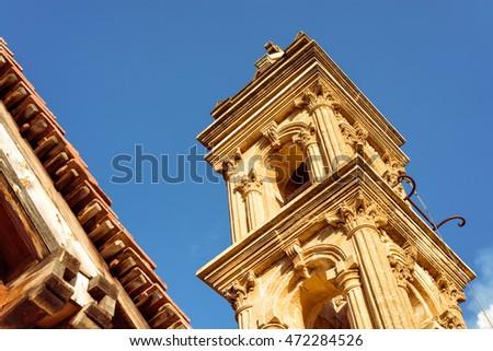 Agia Anna church at Kaliana village in Troodos Mountains. Nicosi Stock photo © Kirill_M