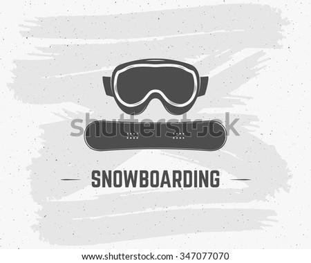 snowboard · védőszemüveg · extrém · logo · címke · sablon - stock fotó © jeksongraphics