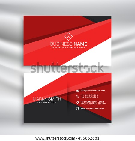 modern red and black business card wit minimal geometrical shape Stock photo © SArts