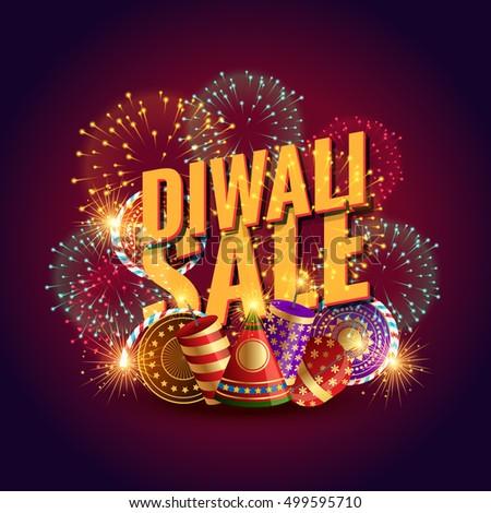 Verbazingwekkend diwali verkoop bon festival vuurwerk Stockfoto © SArts