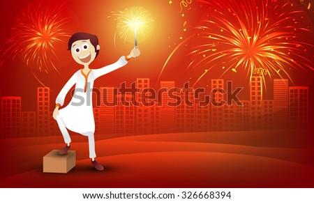 beautiful red flyer for diwali celebration. Diwali greeting temp Stock photo © SArts