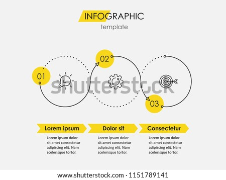 modern infographic for 3 options with arrow, can be used in pres Stock photo © SArts