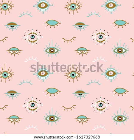 Vector set of various vintage seamless patterns in pastel colors Stock photo © blue-pen