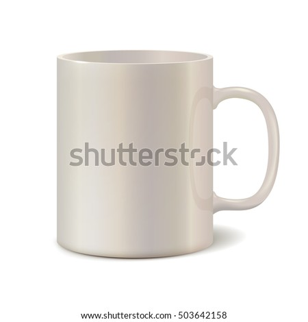 Light pearl ceramic mug for printing corporate logo. 3D illustration Stock photo © ESSL