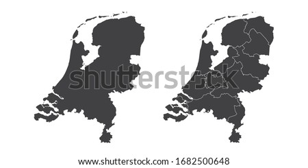 Vector flat style illustration of Netherlands map with Holland n Stock photo © curiosity
