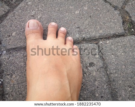 Belle pieds nus gris espace de copie femme nu Photo stock © Nobilior
