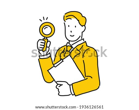 Human Resource Management through Magnifier. Doodle Design. Stock photo © tashatuvango