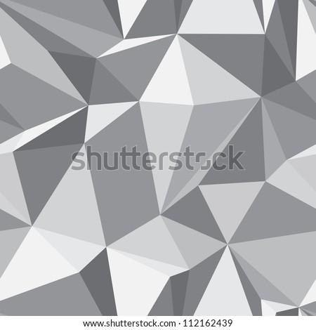 Сток-фото: монохромный · 3D · треугольник · шаблон · бесшовный · вектора