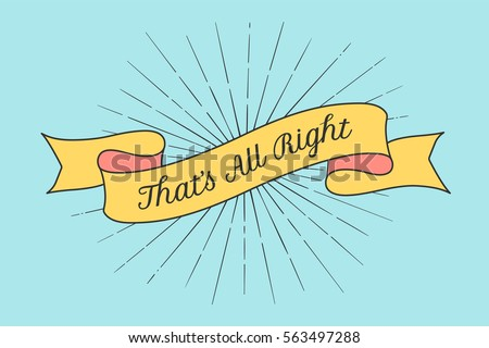 ok ok text on vintage hand drawn ribbon graphic art design on stock photo © pashabo