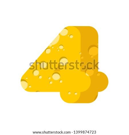 Anlamaya peynir rakam dört alfabe Stok fotoğraf © popaukropa