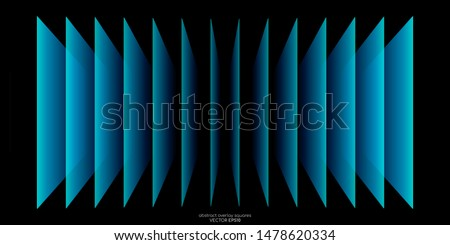 modern green abstract background overlay paper with blank space for your text green sheets of paper stock photo © kurkalukas